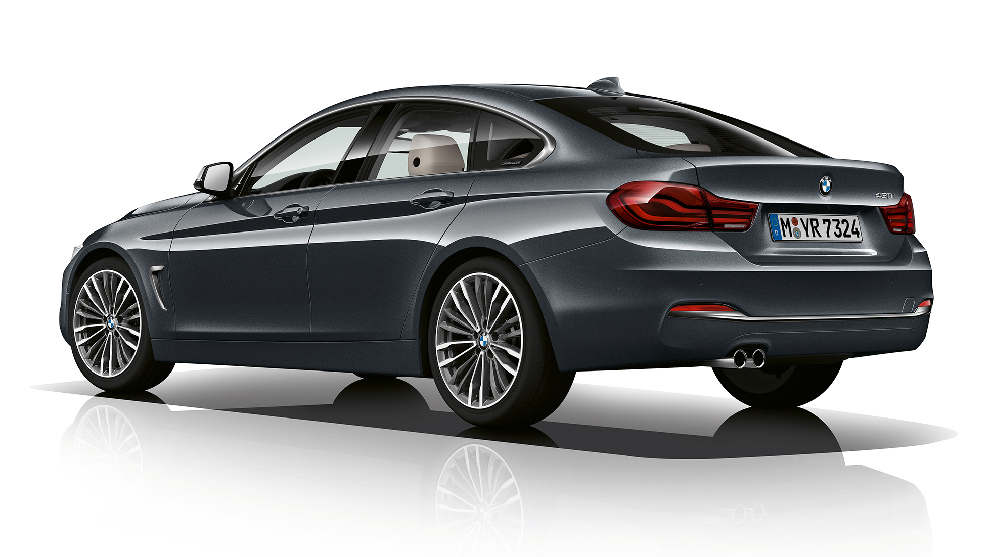 BMW 4 Series Gran Coupé, Model Luxury Line three-quarter rear shot